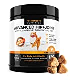 Glucosamine for Dogs - Dog Joint Supplement Support for Dogs with glucosamine Chondroitin, MSM, Turmeric - Advanced Hip and Joint Support for Dogs Chews and Pet Joint Pain Arthritis Relief - 120ct