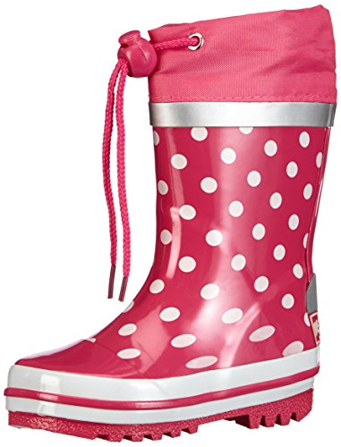Playshoes Punkte aus Naturkautschuk, Mädchen Kurzschaft Gummistiefel, Pink (Pink 18), 22/23 EU (6 Kinder UK)