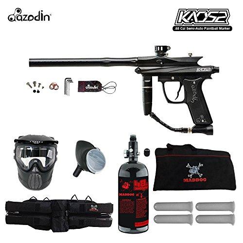 (MAddog Azodin KAOS 2 Beginner HPA Paintball Gun Package B - Black )
