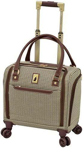 LONDON FOG Cambridge II 15-Inch 8 Wheel Under Seat Bag, Olive Houndstooth