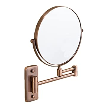 8 Inch Wall Mount Makeup Mirror, 3x Magnifying Mirror Two Sided Vanity  Mirror,