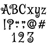 Creative Teaching Press Black Swirl Punch-Out Letters, 4 in, CTP 8655