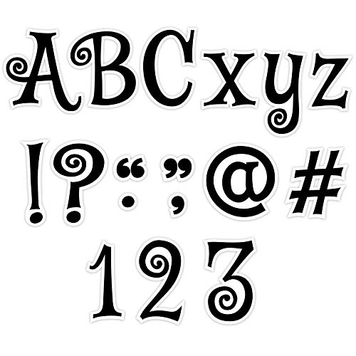 Creative Teaching Press Black Swirl Punch-Out Letters, 4 in, CTP ()