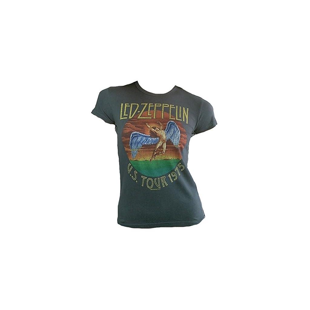 Camiseta de mujer gris Official LED ZEPPELIN US Tour 1975