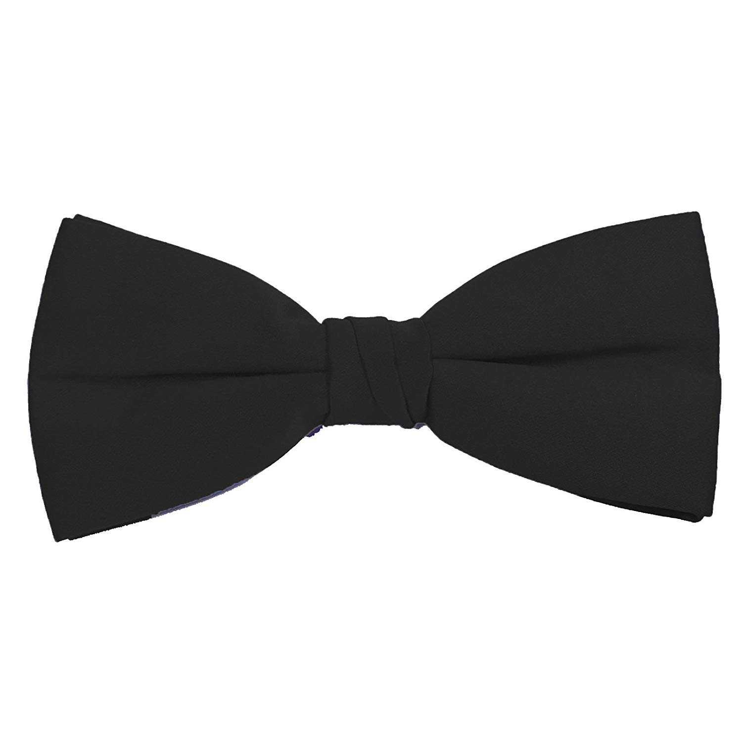 7448d566c23d1 Formal Black Satin Banded Men's Bow Tie