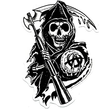 Amazon Com Sons Of Anarchy Reaper Sticker Automotive