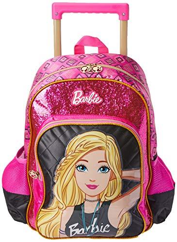 Luxcel Mochila De Carrinho Barbie Gd 3bolsos , Preto