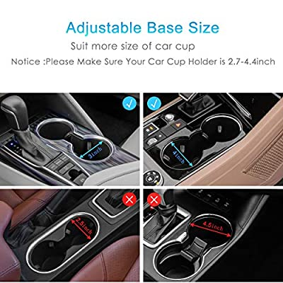 Car Cup Holder Phone Mount,Adjustable Automobile Universal Cup Holder Smart Phone Car Mount with Upgraded Long Neck Compatible for Cell Phones iPhone Xs Max/X/8/7 Plus/Galaxy and All Smartphones