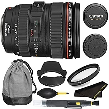Canon EF 24-105mm f/4L IS USM Lens Bundle International Version (No Warranty)