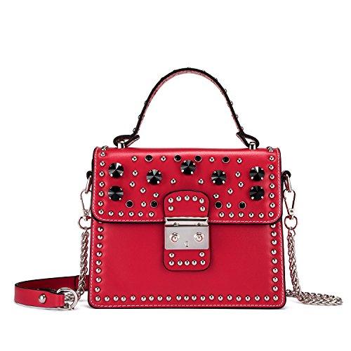 Red Satchel Handbags - 6