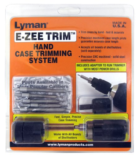 Power Case Trimmer - Lyman Products E-ZEE Trim Hand Case Trimmer Rifle Set