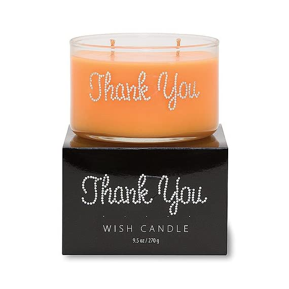 Primal Elements Thank You Wish Candle, 11-Ounce - Soy wax blend Has a cotton wick Beautifully hand jeweled candle - living-room-decor, living-room, candles - 51ZTrwmDnQL. SS570  -