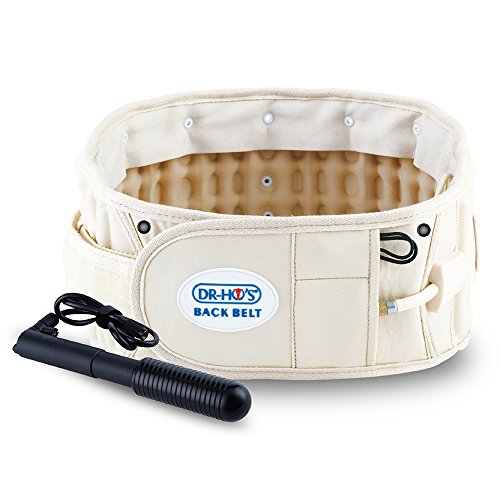 DR-HO'S 2-in-1 Decompression Belt For Lower Back Pain Relief (Beige, Size A (25''-44'')) by Dr Ho's