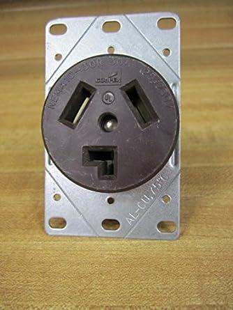 Cooper NEMA 10-30R Power Receptacle: Amazon.com ...