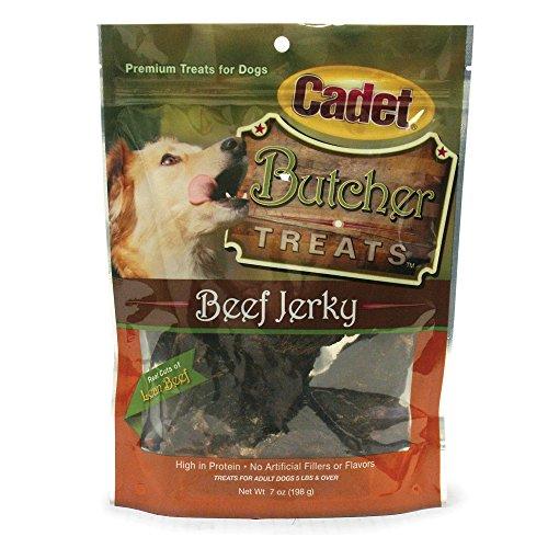 (Cadet Beef Jerky Butcher Treat Bag, 7-Ounce)