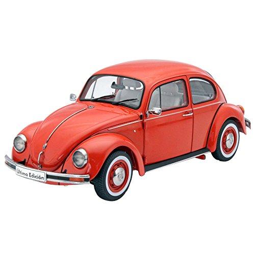 VW beetle 1600i, dark orange, 2003, Model Car,, Schuco 1:18