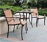 3-Piece Outdoor Bistro Set, Seats 2,tan