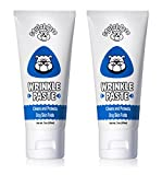 Squishface Wrinkle Paste - 2 Tubes - Cleans Wrinkles, Tear Stains Tail Pockets - 2 oz, Anti-Itch, Great Bulldogs, Pugs Frenchies