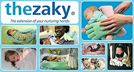 The Zaky Bonding & Positioning By Nurtured By Design - Color Sky Blue - One Pair– Ergonomic Sleeping Support With Washing Bag- Excellent Physical & Psychological Support For Preemies & Infants