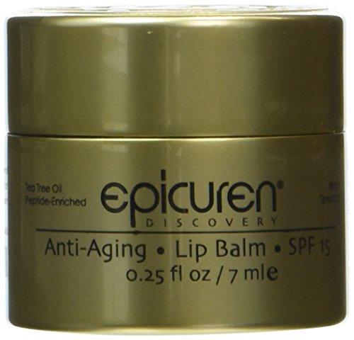 Epicuren Discovery Anti-Aging Lip Balm SPF 15, Tea Tree, 0.25 oz.