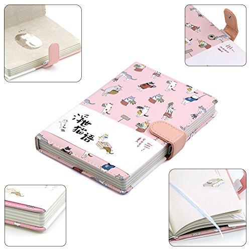 70%OFF Cute dibujos animados gato diario cuaderno Diario de viaje ...