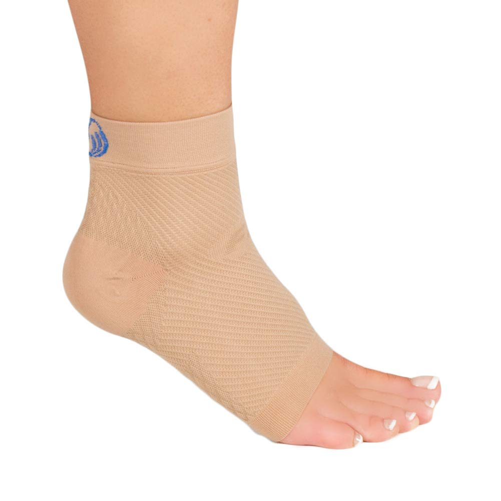 OrthoSleeve FS6 Compression Foot Sleeve (Pair), Natural, Medium by OrthoSleeve