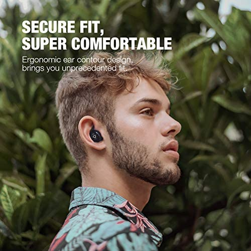 Otium Wireless Earbuds Bluetooth 5.0 Headphones with Digital Intelligence LED Display 3500 mAH Charging Case 135H Playtime Stereo Sound Headset IPX8 Waterproof Built-in Mic for Home Office