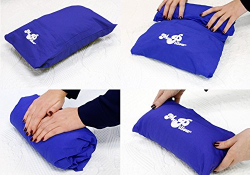 MyPillow Roll N Go Travel Pillow Rolls Into It's Own Pillow Case, Included (Purple Wisteria)