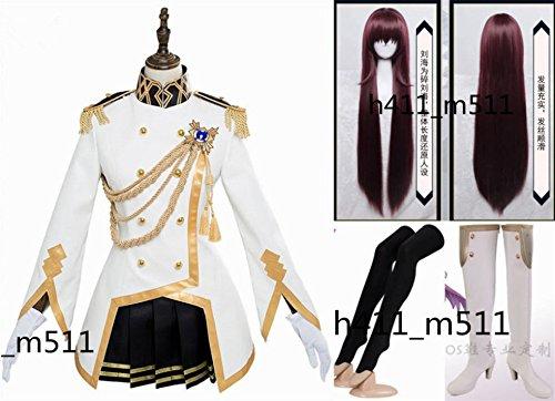 「ノーブランド品」Fate/Grand Order 特典 魔境のサージェント スカサハ コスプレ 衣装 +靴下+手袋+ウィッグ+靴