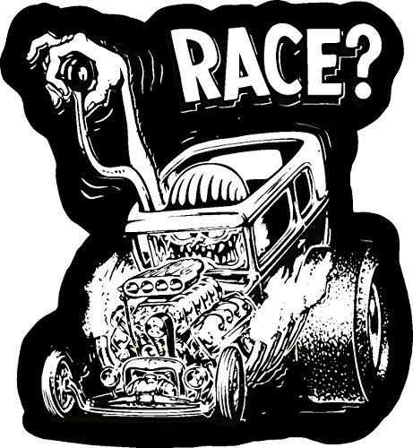 HZ Graphics Race Old School Rat Fink Rat Rod Hot Rod Muscle Car Vintage Performance Sticker 5