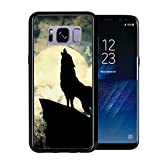 Shadow Wolf Howling At The Moon At Night For Samsung Galaxy S8 2017 Case Cover by Atomic Market