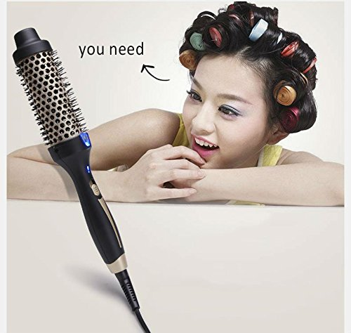 2017 HOT Electric hair ceramic brush air ionic professional curling iron hair curler comb Salon products brush styling tools