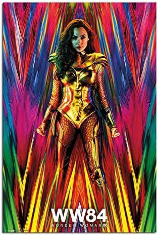 "Wonder Woman 1984 Gal Gadot Chris Movie Poster Art Print 13x20/"" 24x36/"" 32x48/"""