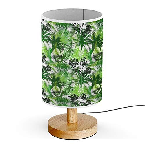 ARTSYLAMP - Wood Base Decoration Desk Table Bedside Light Lamp [ Palm Trees ]