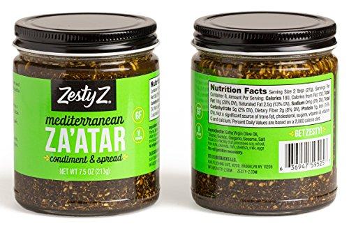 Zesty Z 2-Pack Mediterranean Za'atar (Zaatar/Zatar) Spread & Condiment, 7.5 oz (Pack of 2) by Zesty Z (Image #1)