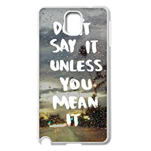 Quotes Classic Personalized Phone Case for Samsung Galaxy Note 3 N9000,custom cover case ygtg528808