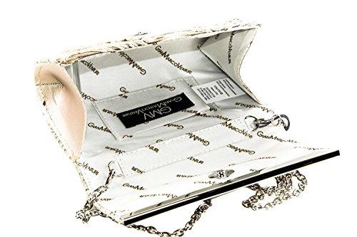 chic strass e GIANMARCO pochette con tulle beige VENTURI N545 donna Borsetta zTq8wEx5T