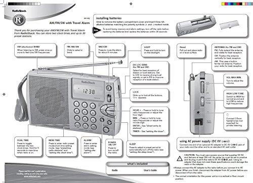 Radio Shack Compact Portable AM/FM/Shortwave Radio