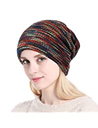 woogwin Womens Knitted Beanie Thicken Fleece Lining Hat Winter Skull Cap for Lady