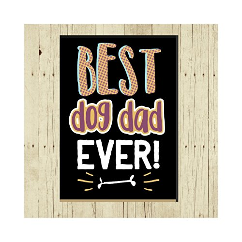 Best Dog Dad, Oversized Refrigerator Magnet, Dog Lover, 2.5