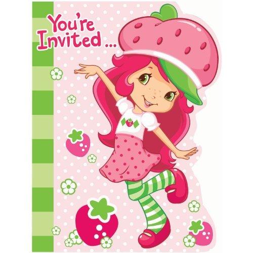 (Strawberry Shortcake Invitations w/ Envelopes (8ct))