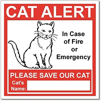 PET RESCUE STICKER In Case of Emergency Please Rescue Cats Inside Save Our Cat