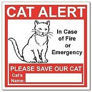 69a647de7005 SecurePro Products 6 Cat Alert Safety Warning Window Door Stickers  in Case  of Fire Notify