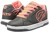Heelys Boys' Propel 2.0 Sneaker, Charcoal/Orange, 4