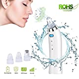 Blackhead Remover Blackhead Vacuum Microdermabrasion Machine Facial Pore Cleanser Blackhead Acne Removal Powerful Comedo Extractor Skin Pore Cleaner With 4 Replaceable Suction Heads (White) For Sale