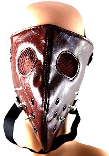 Qiu ping Men's and women's new punk spikes rock trend rivet mask mask by Qiu ping