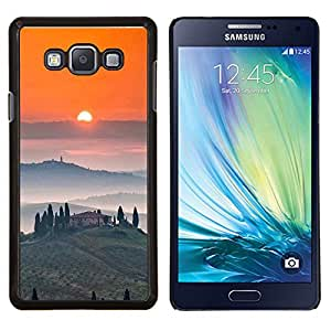 Vino Tosca Paisaje Amanecer- Metal de aluminio y de plástico duro Caja del teléfono - Negro - Samsung Galaxy A7 / SM-A700