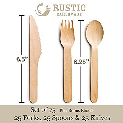 Rustic Earthware Party Cutlery Sets
