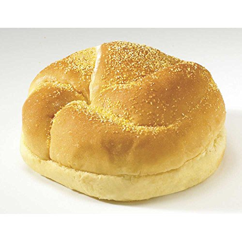Flowers Foods European Bakers Corn Dusted Golden Kaiser Sandwich Bun, 4.5 inch - 12 per pack -- 6 packs per case. by Flowers Foods