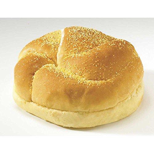 Flowers Foods European Bakers Corn Dusted Golden Kaiser Sandwich Bun, 4.5 inch - 12 per pack -- 6 packs per case. by Flowers Foods